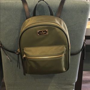Kate Spade Green Small Size Backpack